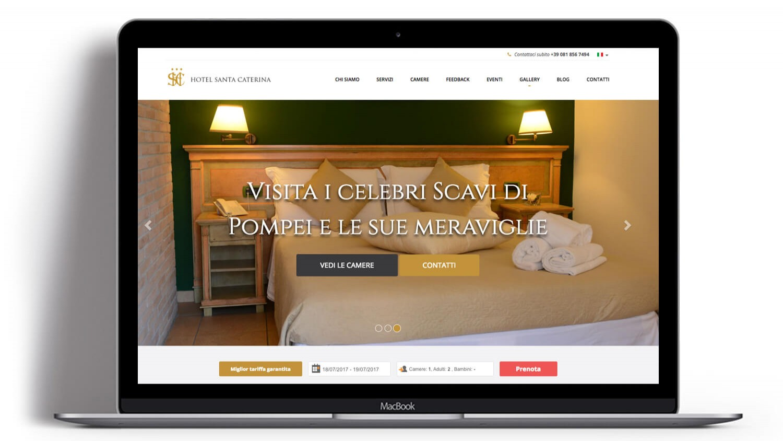 Syria Web Portfolio - Hotel Santa Caterina Pompei