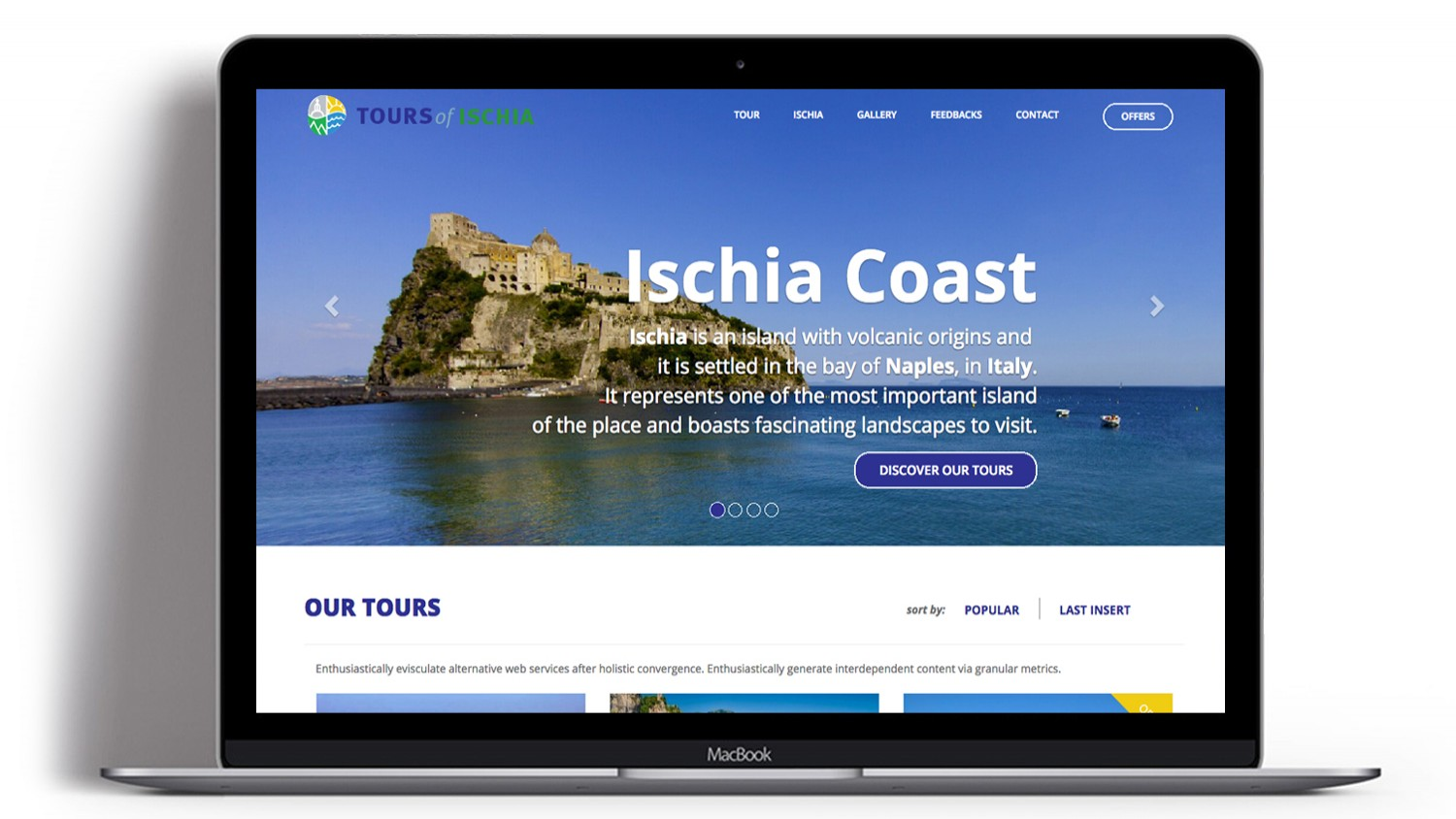 Syria Web Portfolio - Tours of Ischia